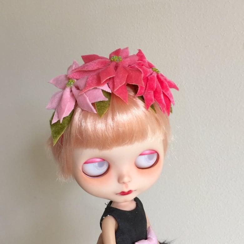 Image of Poinsettia Headband for Neo Blythe Dolls 4
