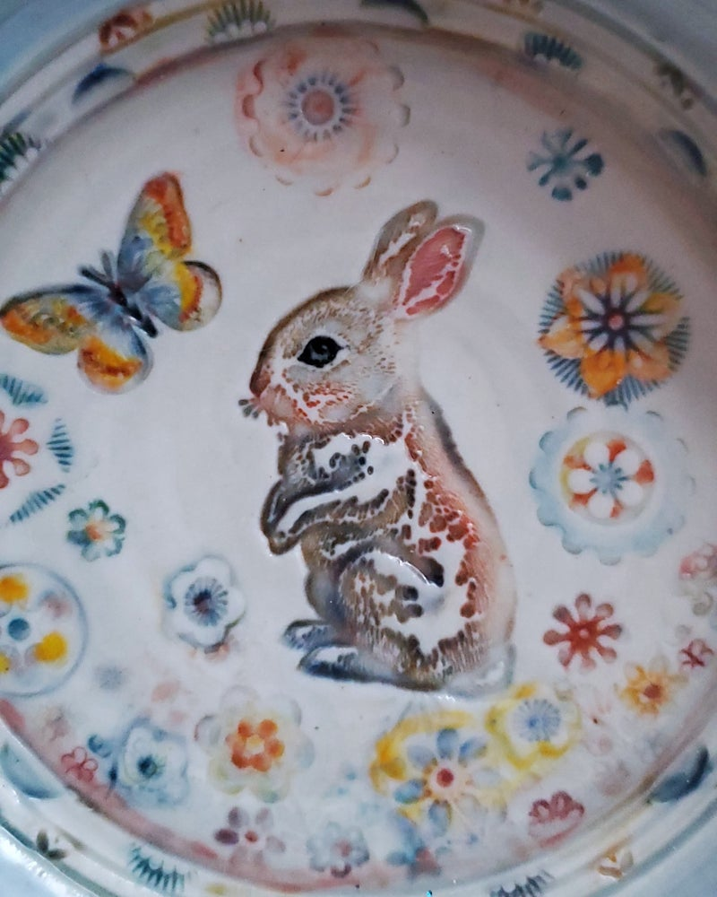 Image of Curious Rabbit Porcelain Dish