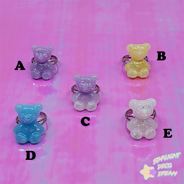 Image of Juicy Gummiez Candy Bear Ring / Adjustable Size