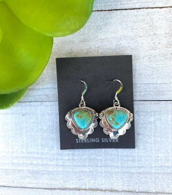 Night Song Turquoise Earrings