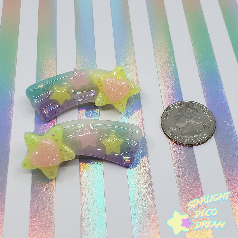 Image of Starry Shooting Stars Hair Clip Set of TWO / Choose A Set