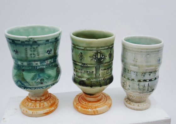 Image of Reduction Fired Mini Porcelain Chalices