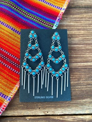 Chandelier Turquoise Earrings