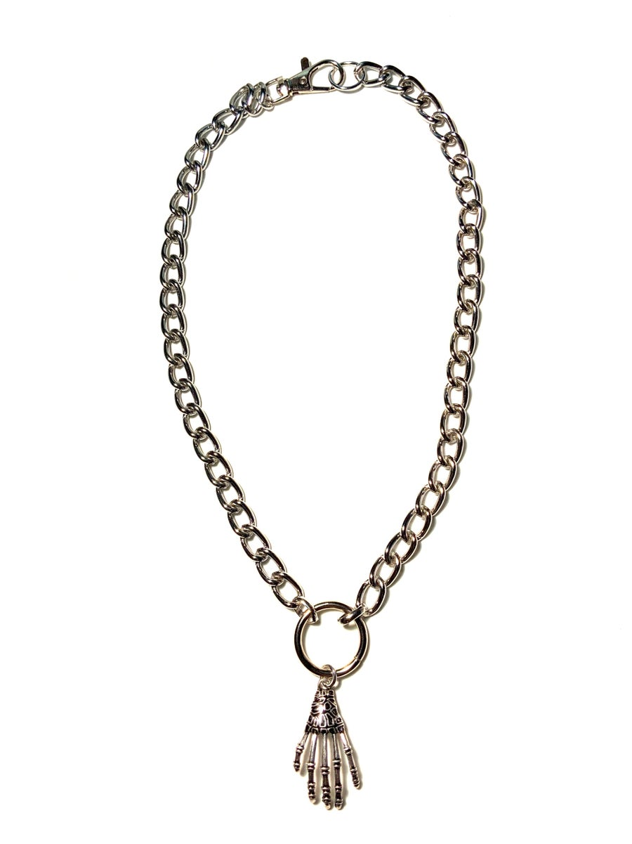 Image of Skeleton Hand O-Ring Necklace
