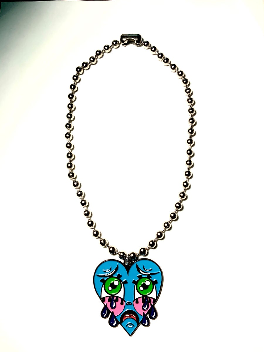 Image of Blue Crybaby Ball-Chain Necklace