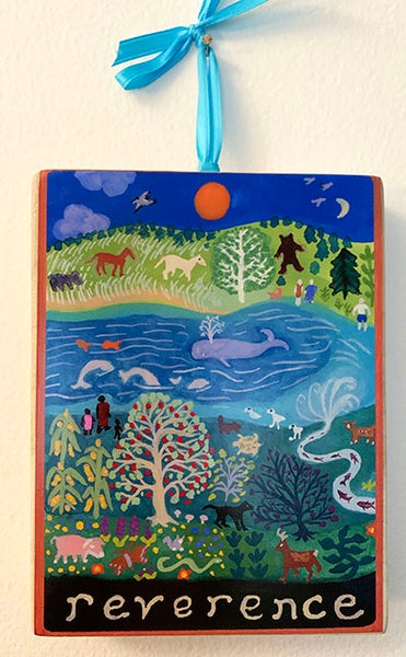 Image of Reverence- illumination series wooden plaque