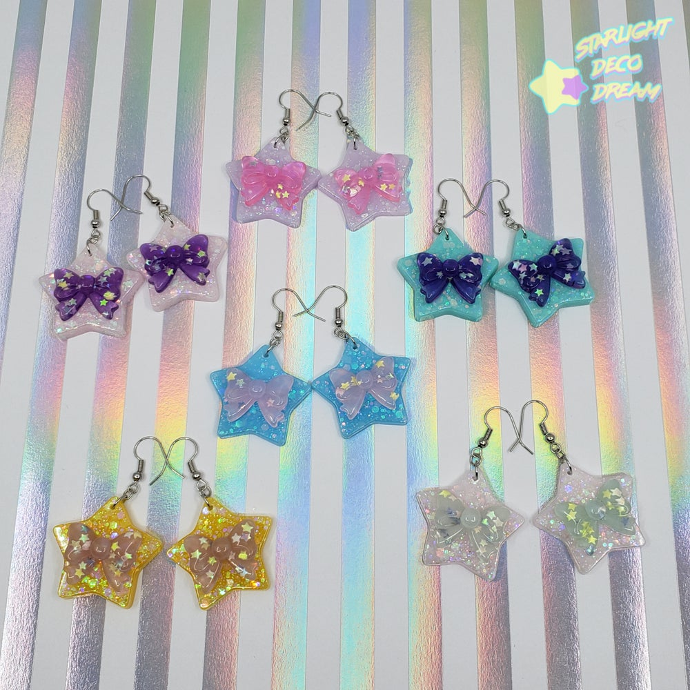 Image of Star Bow Earrings Style Selection B / Choose a Pair
