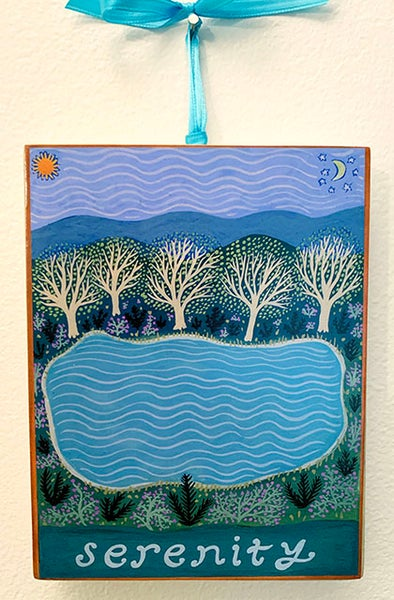 Image of Serenity- illumination series print on wooden plaque