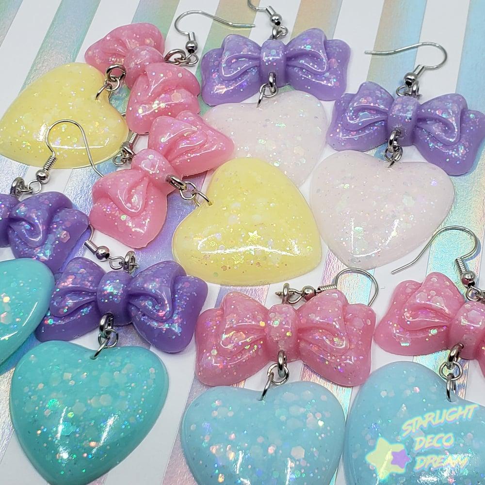 Image of Balloon Bow + Heart Pierce Earrings Style Selection A / Choose a Pair
