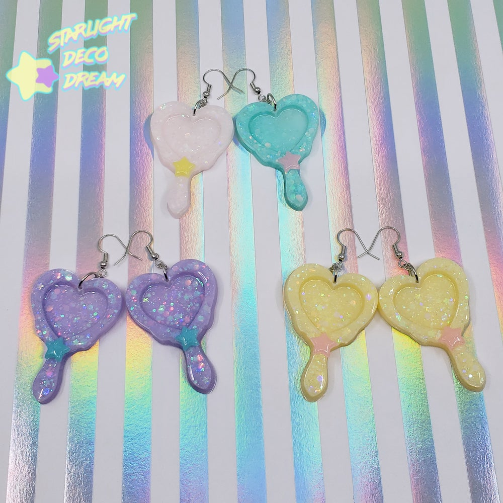 Image of Magical Heart Frame Earrings