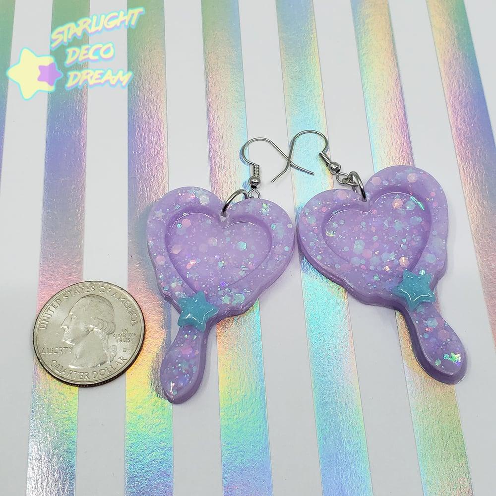 Image of Magical Heart Frame Earrings