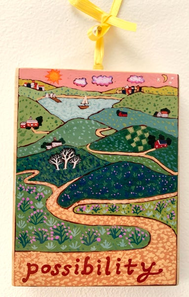 Image of Possibility- illumination series print on wooden plaque