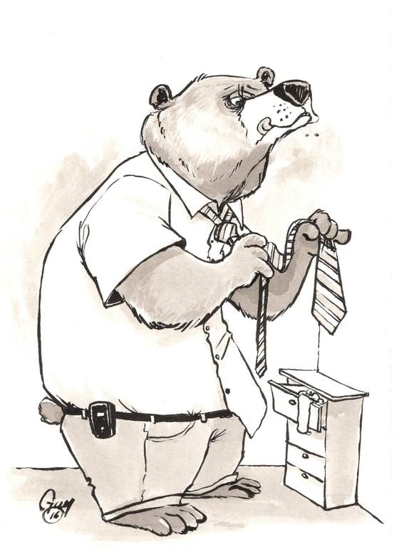 Image of Tie Bear (5.5x8.5)