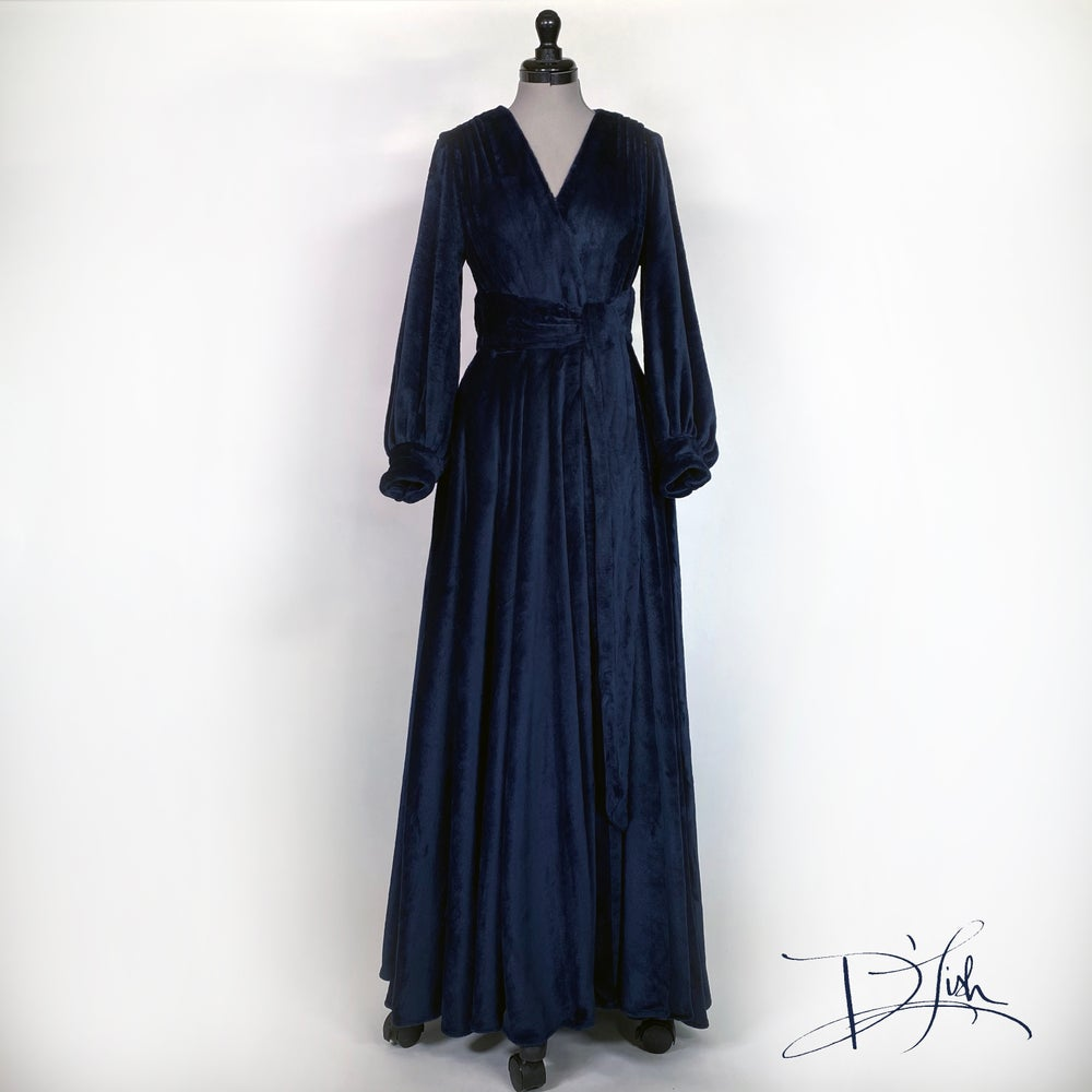 "Image of ""Midnight Blue"" Felicia Supreme Dressing Gown"