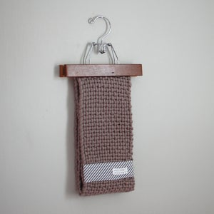 Image of handwoven loop scarf mauve