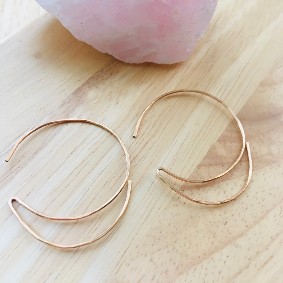 Image of Large Crescent Moon Hoops -Game-changers