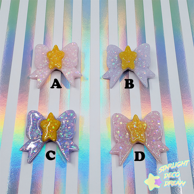 Image of  Charming Star Big Bow 2WAY Badge Hair Clip