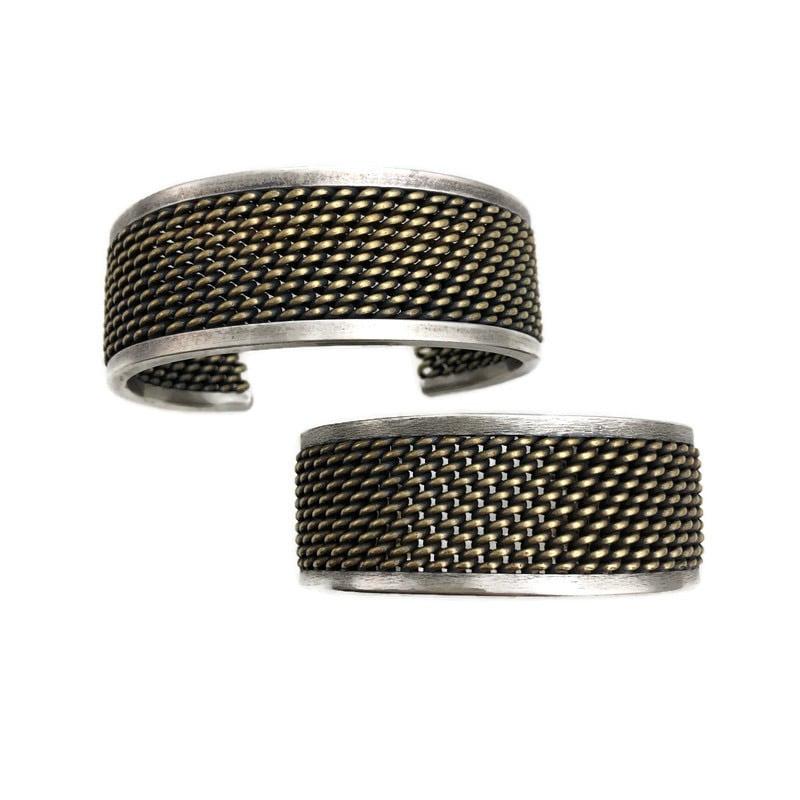 Image of mesh cuff bracelet