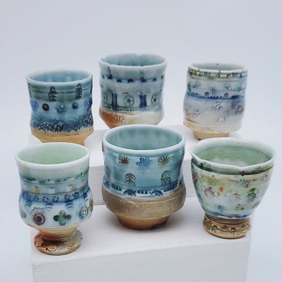 Image of Woodfired Porcelain Saki Vessels