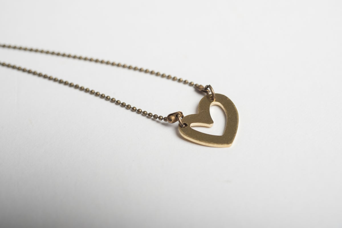 Image of Brass Heart Necklaces