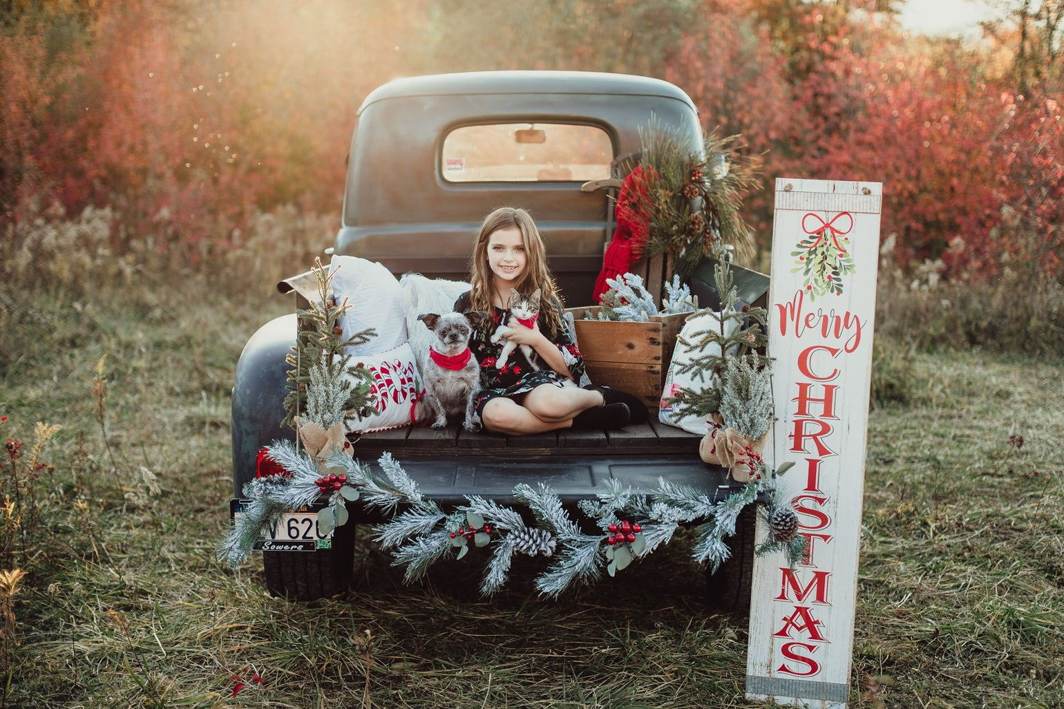 Image of Green Truck Christmas Sessions