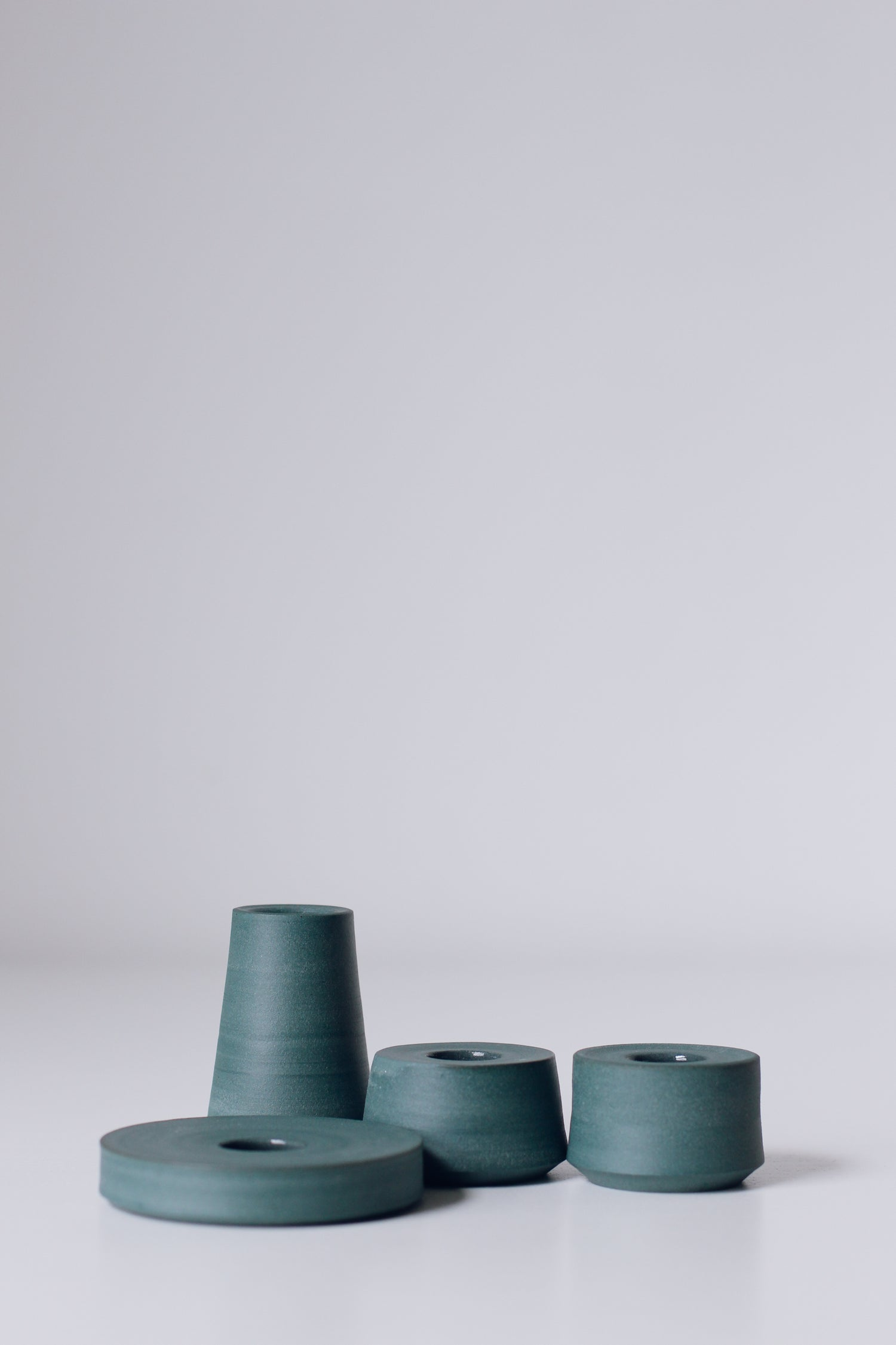 Image of Set of 2 Stacking Candleholders