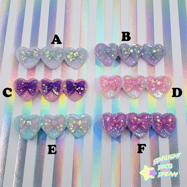 Image of Dreamhearts Heart Trio Hair Clip / Choose One