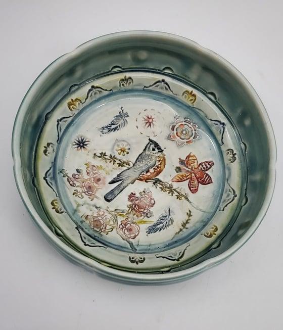 Image of Titmouse Garden Porcelain Dish