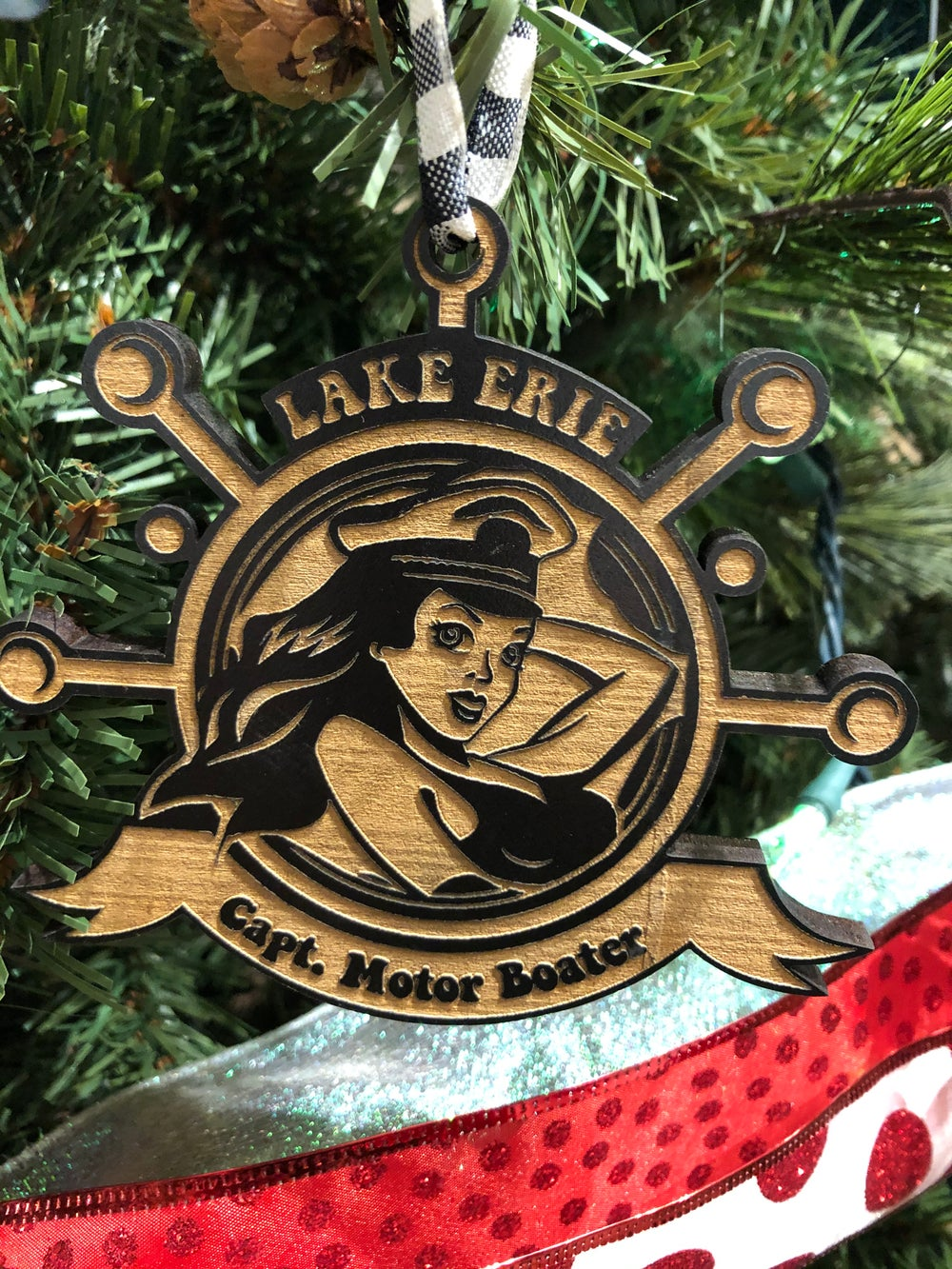 Image of Captain Motor Boater Ornament