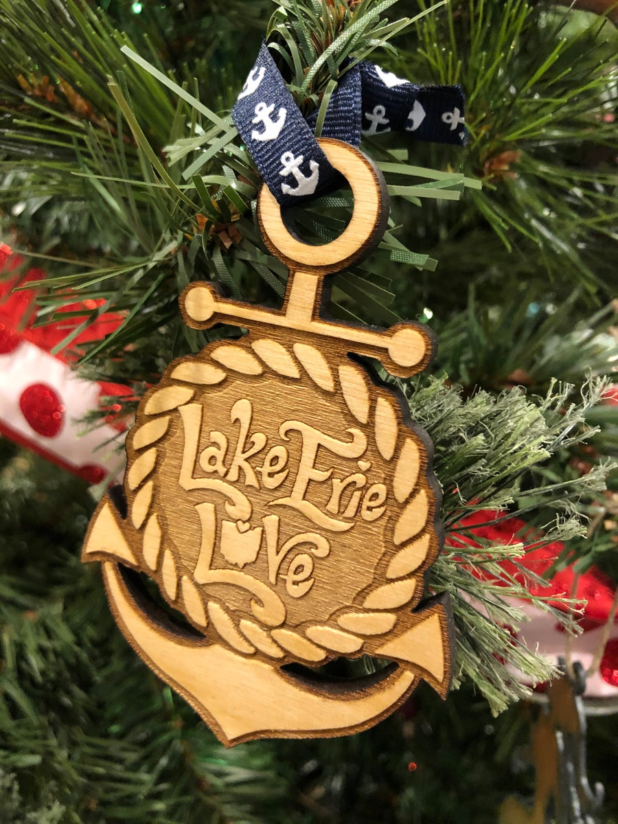 Image of Lake Erie Love Anchor Ornament