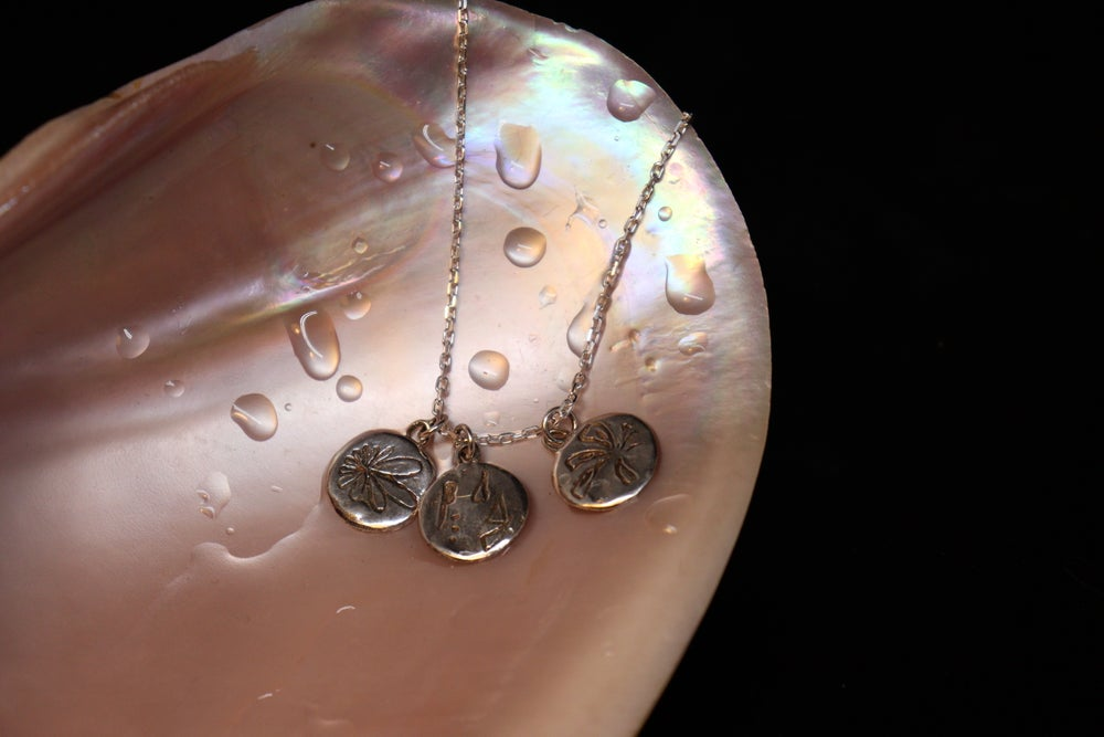 Image of Three Medallions // Delicate Chain Necklace