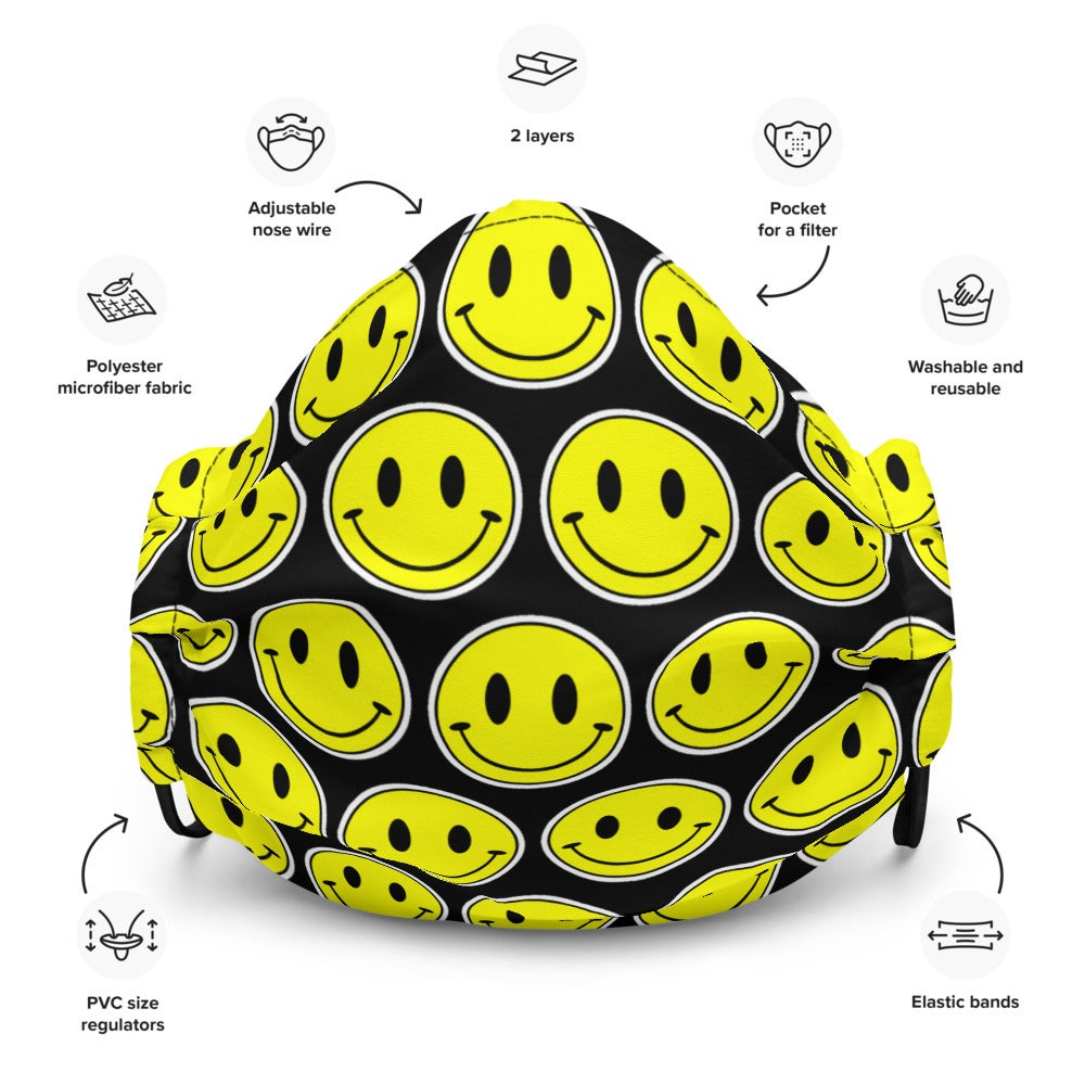 Image of Smiley Premium Face Mask