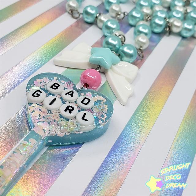 Image of Bad Girl Lollipop Charm Beaded Necklace