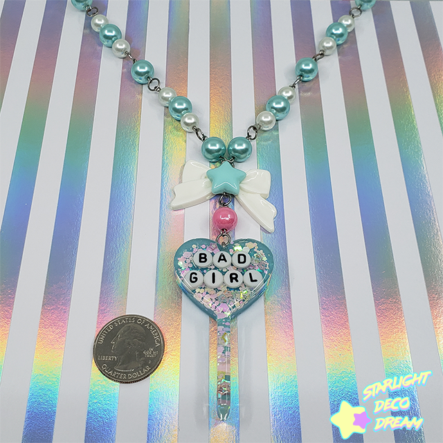 Image of Bad Girl Lollipop Charm Beaded Necklace