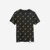 Logo All Over T-Shirt in Gold