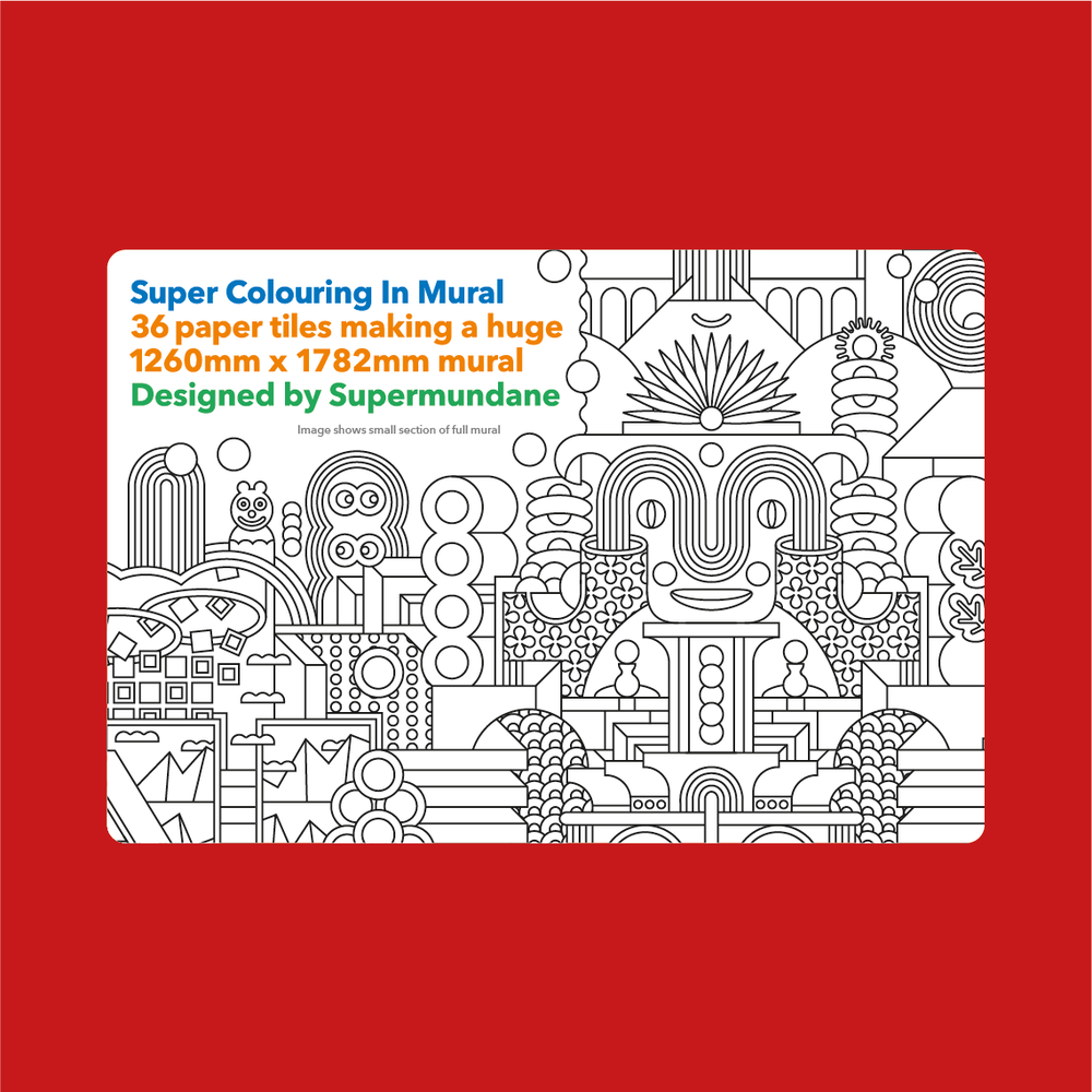 Image of Super Colouring In Mural Pack