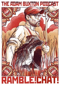 Image of Adam Buxton 'Rambl-aganda' Poster / Print - Red Variant