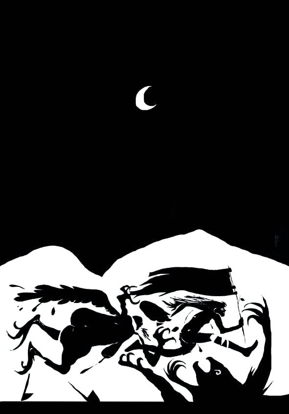 Image of Poster Tagliamani Pietra Abbandonata Broken Flag