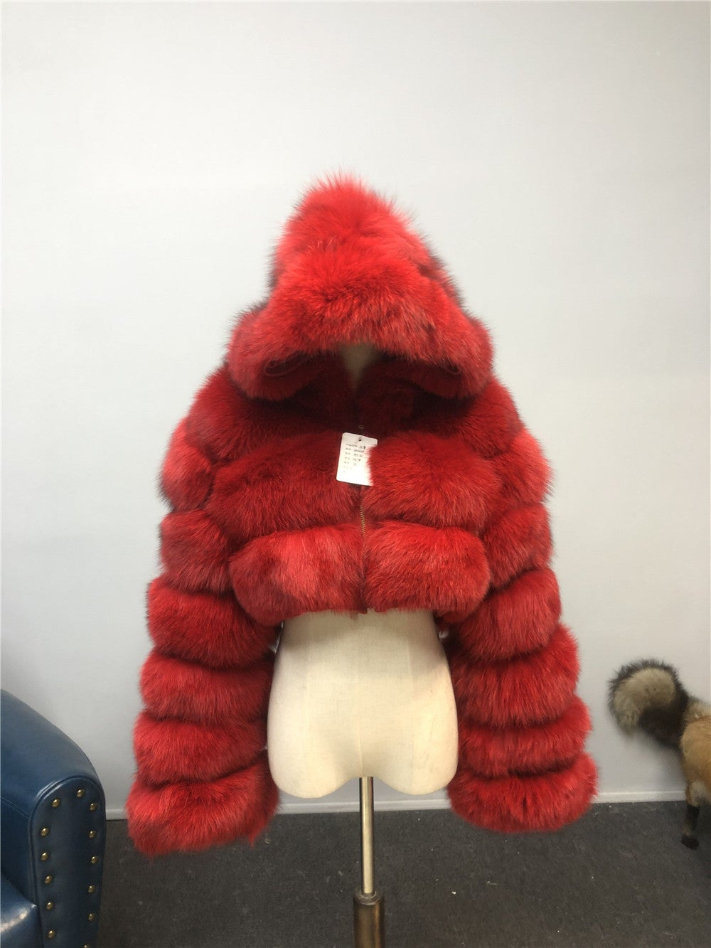 Image of RED FOX HOOD COAT