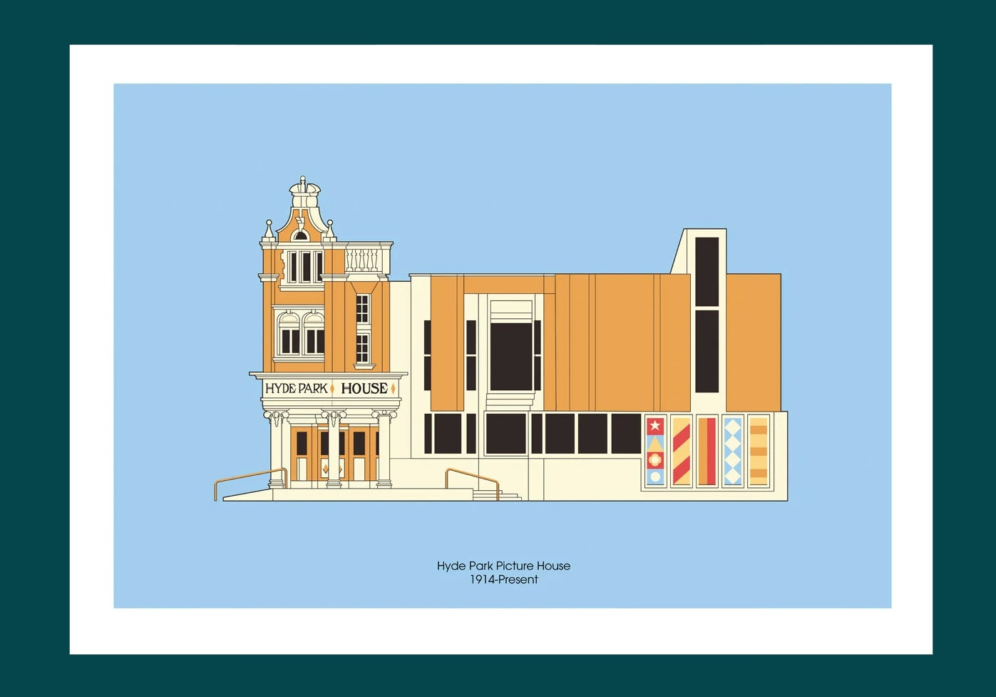 Image of A3 Print | Hyde Park Picture House