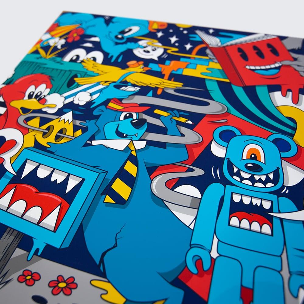 "Image of ""Hibe@rnation"" Bearbrick + Print Set"