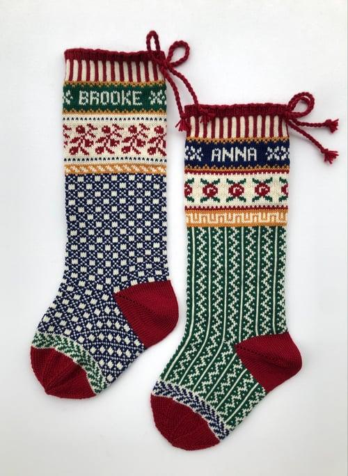 Image of Rosebud Christmas Stocking