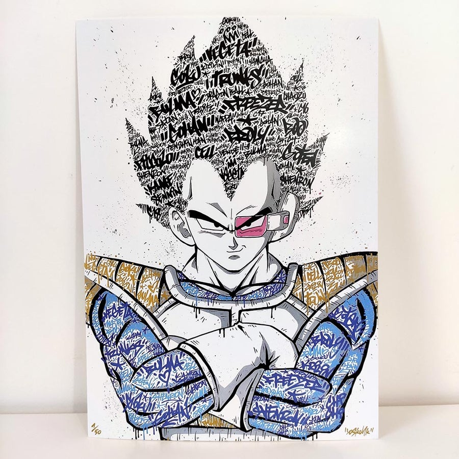 Image of Vegeta Graffiti
