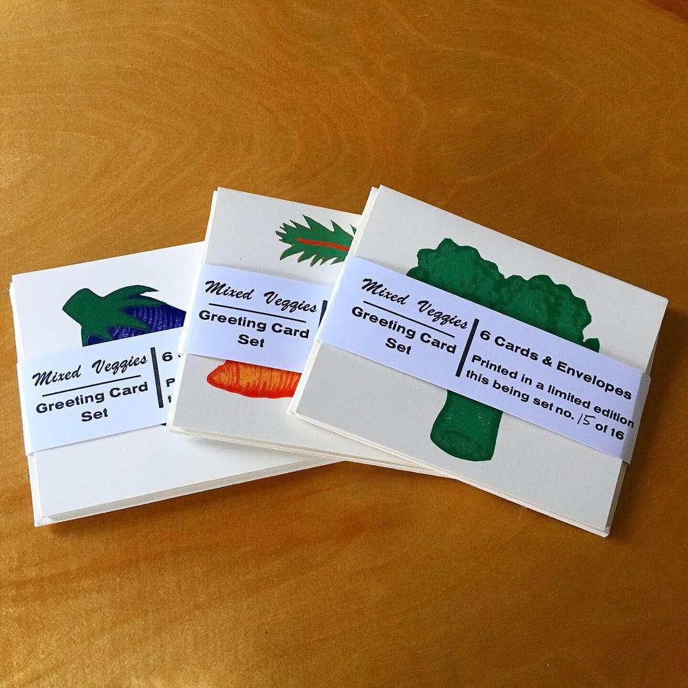 Image of MIXED VEGGIES Greeting Card Set