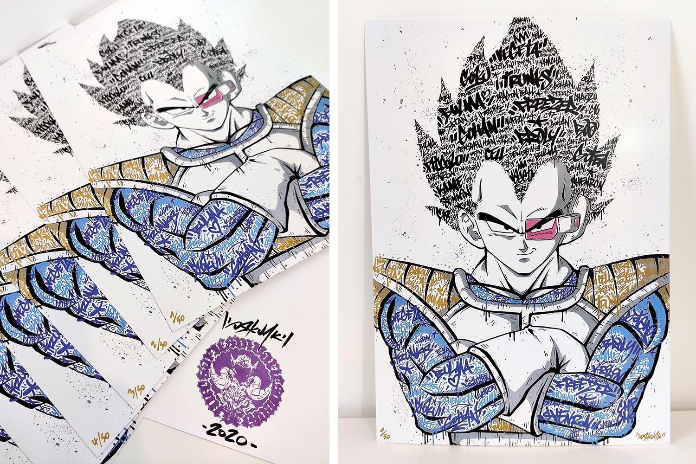 Image of Vegeta Graffiti