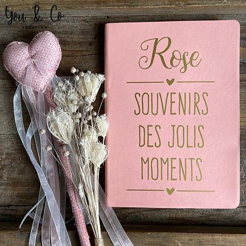 """Image of Carnet """"Souvenirs des jolis moments"""" personnalisable"""