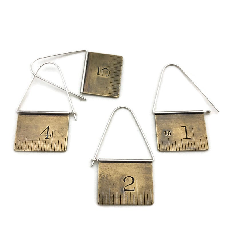 Image of Brass ruler swing hoops, lg