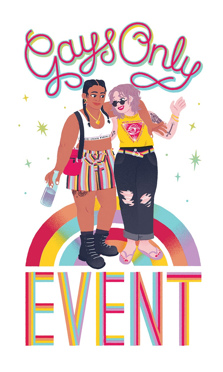 Image of GAYS ONLY EVENT Print