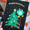 Gold Foiled Greeting Card - Christmas Tree