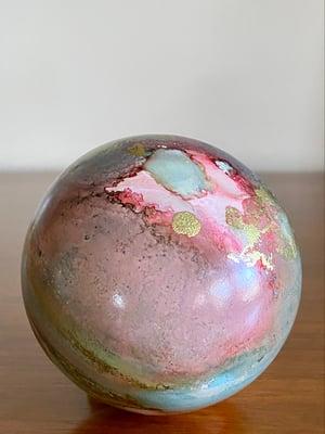 Image of Ceramic Ball Ornament - Rainbow